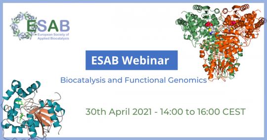 ESAB Webinar: Biocatalysis and Functional Genomics